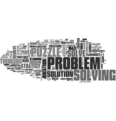 solve word cloud concept vector image vector image