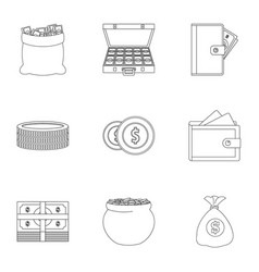 Sponsorship icons set outline style vector