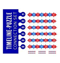 Timeline puzzle connection set vector image vector image