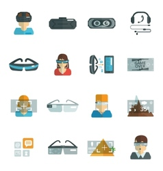 Virtual glasses flat vector