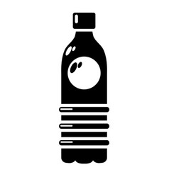water bottle icon simple style vector image vector image