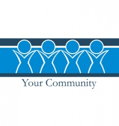 your community vector image vector image