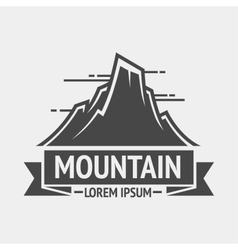 Mountain exploration vintage logos emblem vector