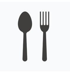 Food icons Fork and spoon sign vector image