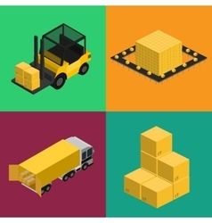 Delivery logistics and transportation icons set vector