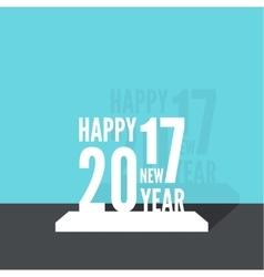 2017 Happy new year vector image