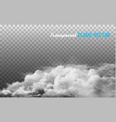 clouds on transparent background vector image