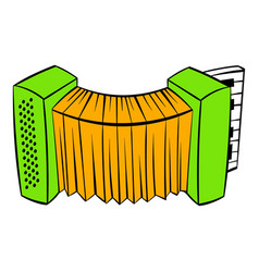 Accordion icon cartoon vector
