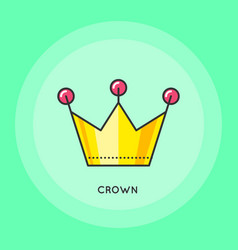 Crown thin line icon vector