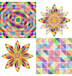 Set of four abstract background with geometric vector