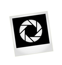 Photography logo with polaroid vector