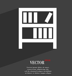 Bookshelf icon symbol flat modern web design with vector
