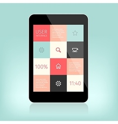 User interface design for mobile vector