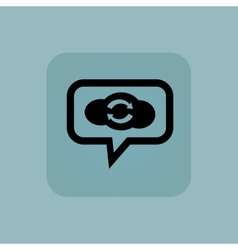 Pale blue cloud exchange message vector