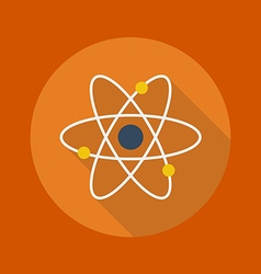 Education flat icon atom vector