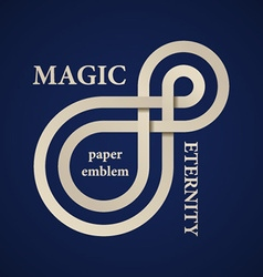 Abstract magic eternity paper emblem vector