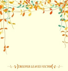 Tropical creeper leaves for autumn vector