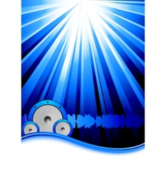 Blue party banner template vector