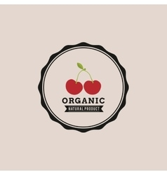 Organic food label vector