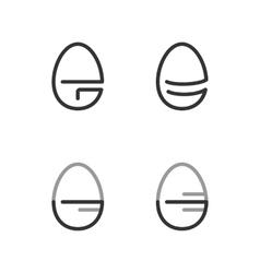 Egg shape line logo minimalism style logotype vector