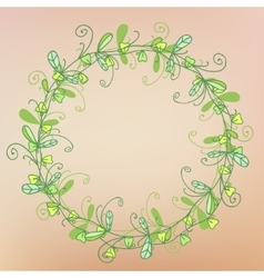 wreath of grass pattern vector image