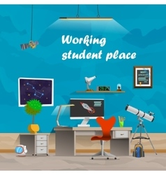 Working student place vector