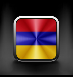 Armenia icon flag national travel icon country vector image vector image
