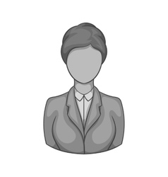Avatar woman icon black monochrome style vector image