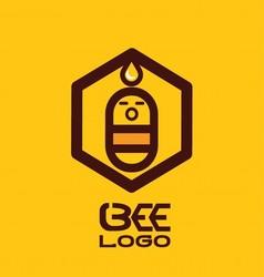 Bee logo 2 vector