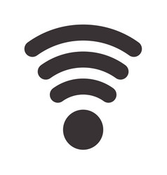 black wifi symbol icon design vector image