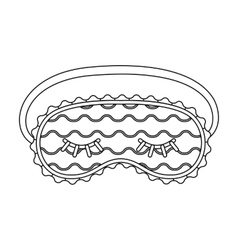 Blindfolds icon in outline style isolated on white vector