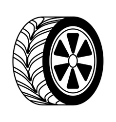 car tire isolated icon vector image