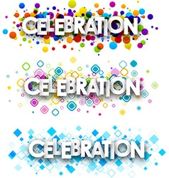 Celebration colour banners vector image vector image