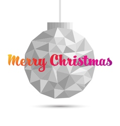 Christmas ball ornaments polygon style vector