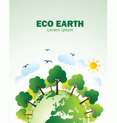 eco green earth vector image