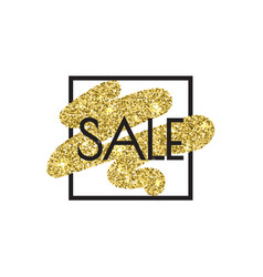 Gold sale shine salling background for flyer vector