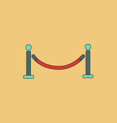 In flat style barrier rope vector