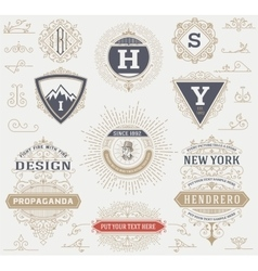 Labels banners and design elements set vector image