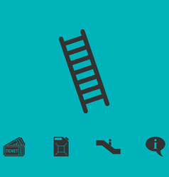 Ladder icon flat vector