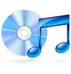 music CD 01 vector image vector image