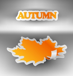 Paper autumn leaf vector image vector image