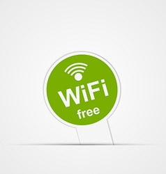 Paper sticker free zone wi-fi isolated vector