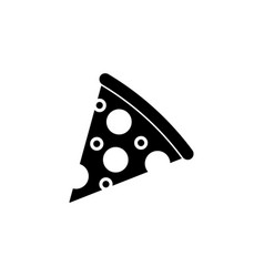 pizza slice solid icon food drink elements vector image