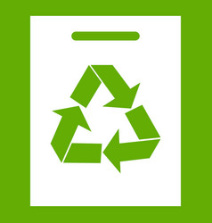 recycling icon green vector image