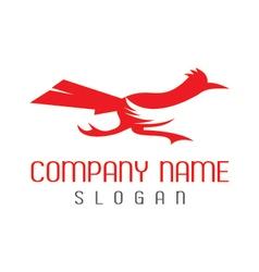 roadrunner bird logo vector image vector image