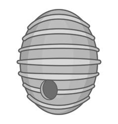 Round beehive icon black monochrome style vector