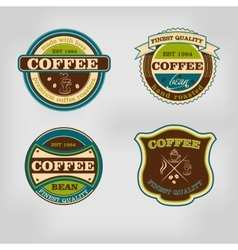 Set of retro coffee house shop badges labels vector image vector image