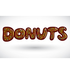 Sign doughnut vector image
