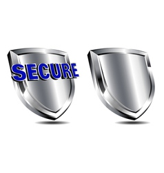 Silver Secure Shield Spam and antivirus vector image vector image