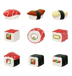 Suchi And Rolls Set vector image